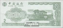 Volksrepublik China Grün Trainingsbanknote Bank Of China Bankfrisch 2 Jin - China