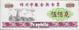 Volksrepublik China Rot Chinesischer Lebensmittelgutschein Bankfrisch 1990 500 Jiao - China