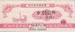 Volksrepublik China Rot Chinesischer Lebensmittelgutschein Bankfrisch 1991 0,05 Jiao - China