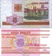 Weißrussland Pick-Nr: 22 Bankfrisch 2000 5 Rublei - Belarus