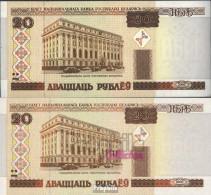 Weißrussland Pick-Nr: 24 Bankfrisch 2000 20 Rublei - Belarus