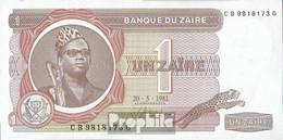 Zaire Pick-Nr: 19b (1981) Bankfrisch 1981 1 Zaire - Zaire