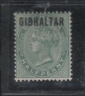 W129 - GIBILTERRA , Vittoria 1/2 Penny  N. 1  * - Gibilterra