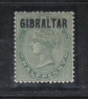 W131 - GIBILTERRA , Vittoria 1/2 Penny  N. 1  * - Gibilterra