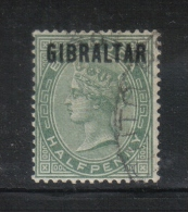 W313 - GIBILTERRA , Vittoria 1/2 Penny  N. 1  Usato - Gibilterra
