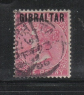 W467 - GIBILTERRA , Vittoria 1 Penny  N. 2  Usato - Gibilterra