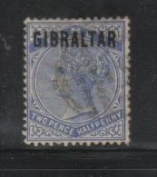 W525 - GIBILTERRA , Vittoria 2 1/2 Penny  N. 4  Usato - Gibilterra