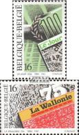 Belgien 2599-2600 (kompl.Ausg.) Postfrisch 1994 Presse - Ungebraucht