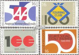 Belgien 2637-2640 (kompl.Ausg.) Postfrisch 1995 Jahrestage - Ungebraucht
