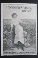 ADVERTISING PUBBLICITA´ MARSALA VINI VERMOUTH MOSCATO DOMENICO SPARTA MARSALA SICILIA - Advertising