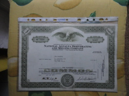 U.S.A.National Alaalfa Dehydrating And Milling Company 1970100 Shares - Azioni & Titoli