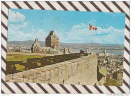 N1327 CANADA QUEBEC PANORAMA VU DU SOMMET DE LA CITADELLE 1960 2 SCANS - Québec - La Citadelle