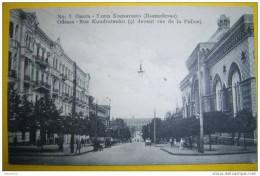 N1337 ODESSA RUE KONDRATENKO CI DEVANT RUE DE LA POLICE 1913 2 SCANS - Ukraine