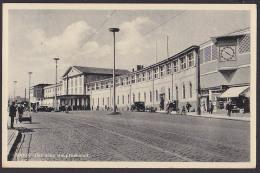 """Stettin Szczecin Photo-AK 1934 Eisenbahn Der Neue Hauptbahnhof MWSt. """"Deine Stimme Dem Führer!"""" - Pommern"""