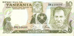 BILLETE DE TANZANIA DE 10 SHILINGI DEL AÑO 1978 (BANKNOTE) - Tanzanie