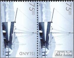 Island 911Eo/Eu Senkrechtes Paar Postfrisch 1999 Historische Fahrzeuge - 1944-... Republik