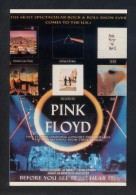 *Pink Floyd - Live'88* Ed. World Postards Inc. Nº X-73. Nueva. - Music And Musicians