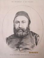 1873 Mehemet  Ruchdi  Pacha   Nouveau Grand Vizir De Turquie - Turquie