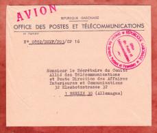 Luftpost, Office Des Postes Et Telecommunications, Nach Berlin (74249) - Gabun (1960-...)