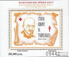 Makedonien Z Block16A (kompl.Ausg.) Zwangszuschlagsmarken Postfrisch 1995 Rotes Kreuz - Macedonia