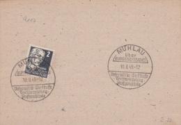 Fashion: Deutsche Post Card P/m Mühlau über Bergstadt (Sachs) 10.8.1949 Unterwäsche   (G59-32) - DDR