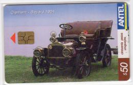 URUGUAY  TELECARTE ANTEL Année 2004 VOITURE CLEMENT BAYARD 1904 - Uruguay