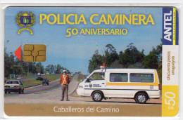 URUGUAY  TELECARTE ANTEL 50 $ Année 2004 POLICIA - Uruguay