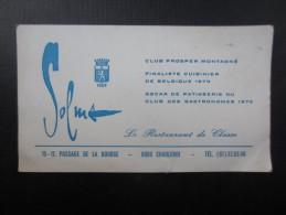Carte De Visite SOLMS (M1505) Passage De La Bourse, CHARLEROI (2 Vues) Club Prosper Montagné - - Italie