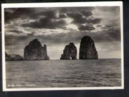 P193 CAPRI ( Napoli ) - I FARAGLIONI - Vera Fotografia Fotoediz. BRUNNER E CO - Bianco E Nero - Autres Villes
