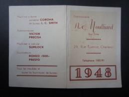CALENDRIER 1948 (M1505) AC MOULLIARD (2 Vues) 29, Rue Turenne  Charleroi - Calendriers