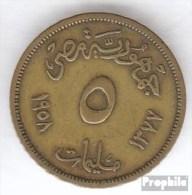 Ägypten KM-Nr. : 379 1958 Sehr Schön Aluminium-Bronze Sehr Schön 1958 5 Milliemes Sphinx - Aegypten