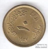 Ägypten KM-Nr. : 381 1956 Sehr Schön Aluminium-Bronze Sehr Schön 1956 10 Milliemes Sphinx - Aegypten