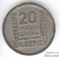 Algerien KM-Nr. : 91 1949 Sehr Schön Kupfer-Nickel Sehr Schön 1949 20 Francs Laureate - Algerien