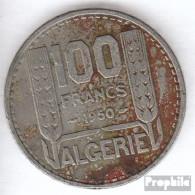 Algerien KM-Nr. : 93 1950 Sehr Schön Kupfer-Nickel Sehr Schön 1950 100 Francs Laureate - Algerien