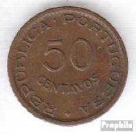 Angola 75 1954 Sehr Schön Bronze Sehr Schön 1954 50 Centavos Wappen - Angola