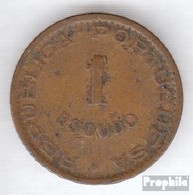 Angola 76 1963 Sehr Schön Bronze Sehr Schön 1963 1 Escudo Wappen - Angola