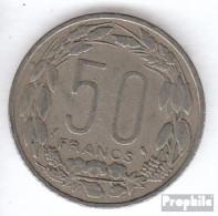 Äquatorial-Afrika-Staaten KM-Nr. : 3 1961 Sehr Schön Kupfer-Nickel Sehr Schön 1961 50 Francs Antilopen - Münzen