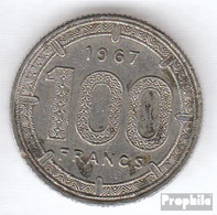 Äquatorial-Afrika-Staaten KM-Nr. : 5 1968 Sehr Schön Nickel Sehr Schön 1968 100 Francs Antilopen - Münzen