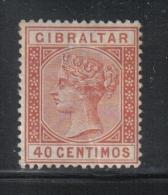 W784 - GIBILTERRA 1889 , Vittoria N. 25 *  Mint  Fil CA . Piega - Gibilterra