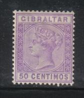W789 - GIBILTERRA 1889 , Vittoria N. 26 *  Mint  Fil CA . - Gibilterra