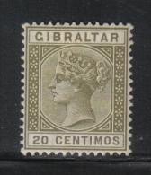 W798 - GIBILTERRA 1895 , Vittoria N. 30 *  Mint  Fil CA . - Gibilterra