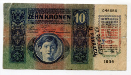 Croatia Serbie Serbia Ovp Austria Hungary Overprint  10 Kronen 1915 RARE !!! # 1 - Croatie