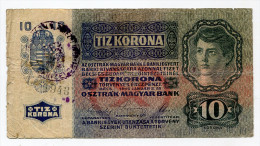 Croatia Serbie Serbia Ovp Austria Hungary Overprint  10 Kronen 1915 RARE !!! # 2 - Croatie