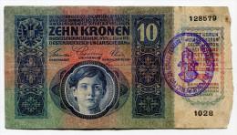 Croatia Serbie Serbia Ovp Austria Hungary DOUBLE Overprint  10 Kronen 1915 RARE !!! # 2 - Croatia