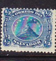 El Salvador 1867 Volcano - ½r. Blue - Mint - El Salvador