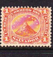 El Salvador 1867 Volcano - 1r Vermillion - Mint - El Salvador