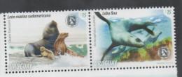 URUGUAY , 2014 , MNH, SEA LIONS, SEALS, 2v - Zeezoogdieren