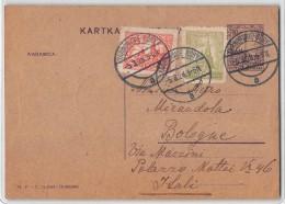 12937 POLAND  TARNOWSKIE BORY TO BOLOGNA - 1928 - Entiers Postaux