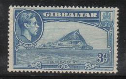W2358 - GIBILTERRA1938 , GIORGIO VI : 3 Pence N. 107A Dentellato 13 1/2   *  Mint - Gibilterra