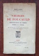 Charles De Foucauld - René Bazin - Plon - 1921 - Biographie